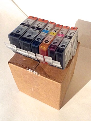 Genuine Canon Bci-3e Twin Pack and Cli-6 Color (6-pack) Value Combo in Factory Shrink Wrap and Easy Open Bulk Packaging-6 Cartirdges in Total. No Retail Boxes or Plastic Packaging.