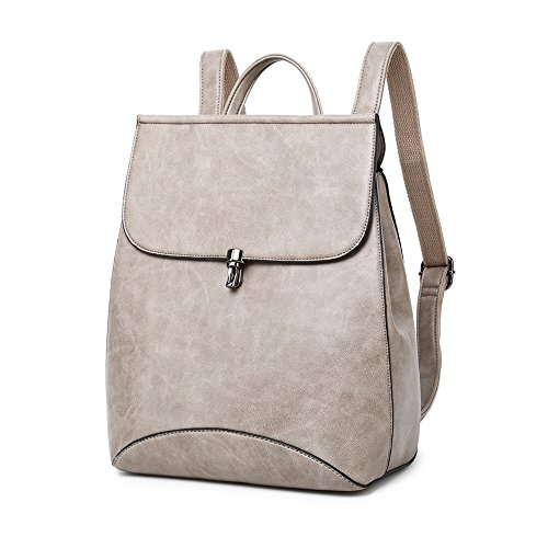 0fac95f78030 Galleon - WINK KANGAROO Fashion Shoulder Bag Rucksack PU Leather Women  Girls Ladies Backpack Travel Bag (Light Grey)