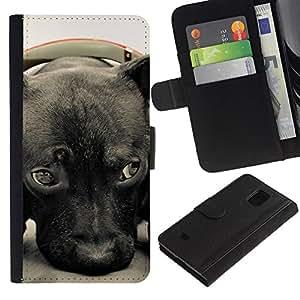 All Phone Most Case / Oferta Especial Cáscara Funda de cuero Monedero Cubierta de proteccion Caso / Wallet Case for Samsung Galaxy S5 Mini, SM-G800 // Plott Puppy Cane Corso Retriever