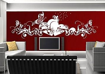 Wandtattoo wandaufkleber Aufkleber Wandsticker wall sticker Wohnzimmer  Schlafzimmer Kinderzimmer KÜCHE 30 Farben zur Wahl Liebe Fee Herz  Schmetterling ...