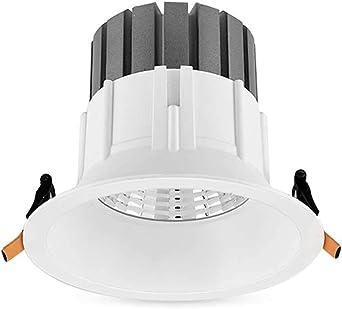 Foco empotrable de downlight LED para sala de estar sin borde (Color : Warm light-15W): Amazon.es: Iluminación