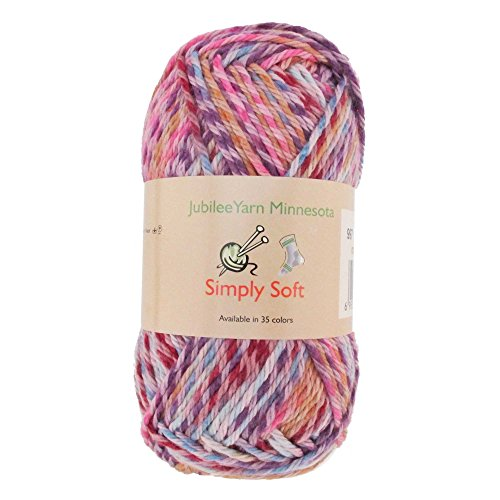 Light Weight Simply Soft Yarn 100g - 2 Skeins - 50% Cotton 50% Polyestser - Confetti - Color 997