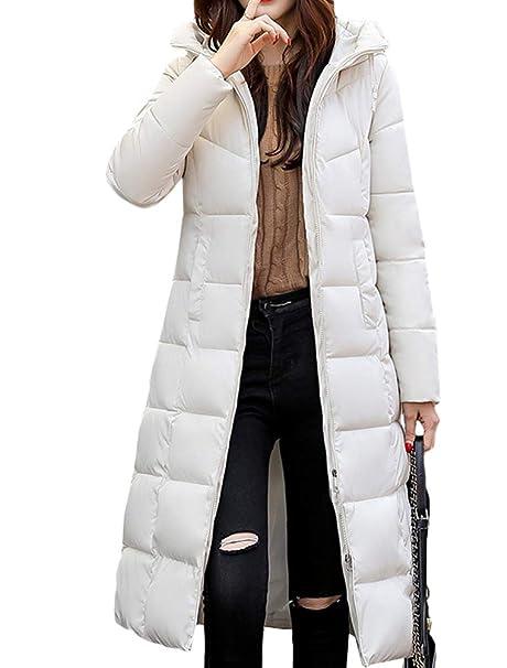new concept 0fe97 67b6a Mallimoda Donna Cappotto Lunga Giacche Piumino Parka Giacca con Cappuccio  Autunno/Inverno