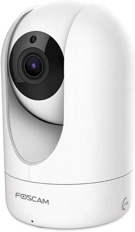 Foscam R4 Drehbare Und Schwenkbare Ip Wlan Kamera Überwachungskamera Mit 4 Megapixel Ultra Hd Auflösung P2p Ir Nachtsicht Microsd Kartenslot Bewegungserkennung 2 Way Audio Sytem Weiß Baumarkt