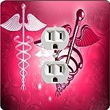 Rikki Knight 8864 Outlet Red Medical Doctor Symbol Design Outlet Plate