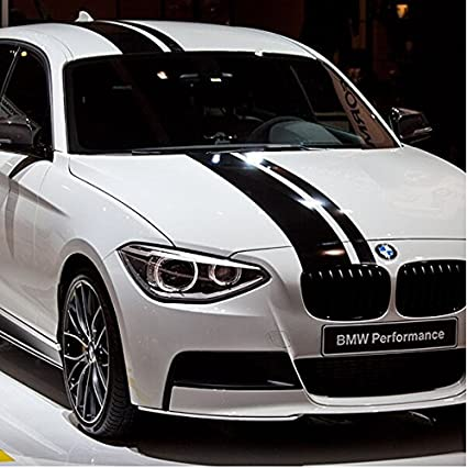Dokot bonnet rally stripe vinyl sticker car hood roof truck trunk decal