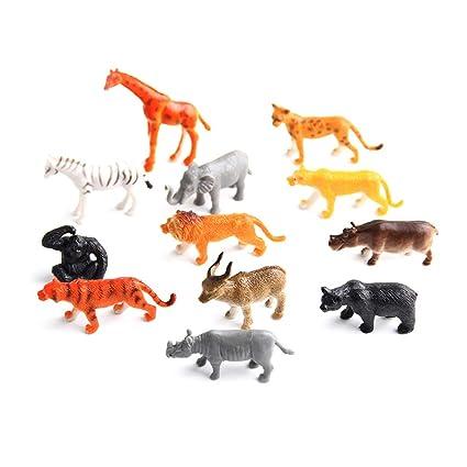 2c47dcc9347b Naisicatar Figura Animal, Conjunto de Juguetes Jumbo Animal de la Selva (12  Piezas)