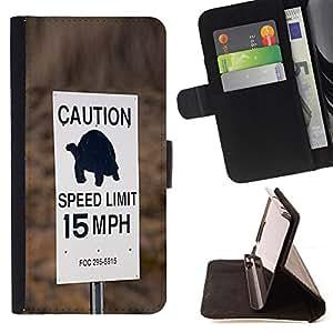SLOW SPEED LIMIT FUNNY TURTLE CAR DRIVER/ Personalizada del estilo del dise???¡Ào de la PU Caso de encargo del cuero del tir????n del soporte d - Cao - For HTC One M7