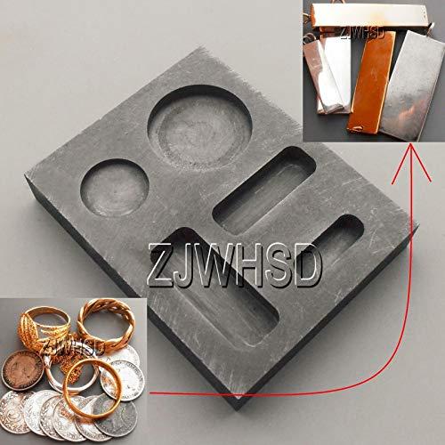 - FidgetKute 1/4 1/2 1OZ Gold Graphite Ingot Bar Round Coin Combo Mold Casting Refining Scrap Show One Size