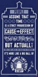 Doctor Who Wibbly Wobbly Timey Wimey Quote Tardis Blue Illustration Sci Fi British TV Television Show Print (Unframed 12x24 Poster)