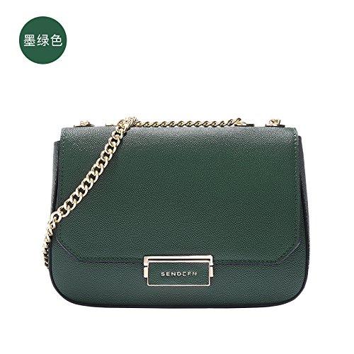 GUANGMING77 Tasche Tasche Tasche Tasche Tasche Kleine Kette Tasche Ink green S