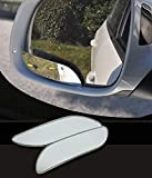 2 Pcs Blind Spot Mirror, Frameless Square No Blind Spot Mirror Adjustable HD Glass Convex Rear View Mirror for All Universal Vehicles Car Side Convex Rear View Mirror Wide Angle Blind Spot Mirror Fit