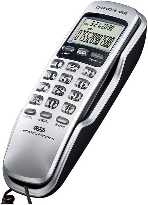 Teléfono Fijo en la Pared, teléfono Fijo, Hotel, Oficina, línea Fija, 200 * 59 * 60 mm (Color : Gray): Amazon.es: Hogar