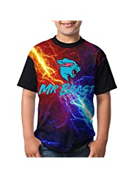 Nature Porter Mr Beast Boys and Girls Print T-Shirts, Youth Fashion Tops