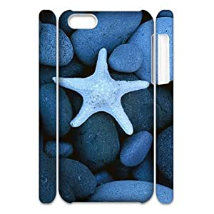 Design Fashion hard Case Starfish For Ipod Touch 5 Case Cover