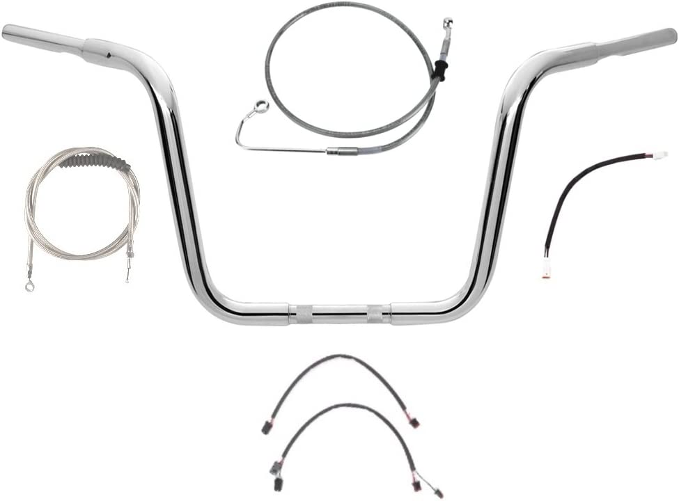 """Stainless Cable /& Brake Line Bsc Kit 20/"""" Apes 2011-2015 Harley Softail w//ABS"""