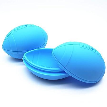 NACOLA - Molde para cubitos de hielo de rugby 3D, 2 unidades ...