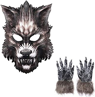 ABCDE Halloween Conjunto de máscara de Hombre Lobo Bola de ...