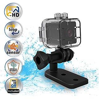Cop Cam -Waterproof Action Camera -SendCord 1080P Mini Spy Cam -Cop Cam Hidden Camera with Night Vision -Mini Spy Camera Wireless -Small Camera for Outdoors -Hidden Camera for Car -98feet Waterproof