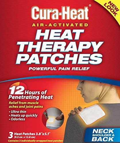 Shoulder Heat Pack (Cura-Heat Therapeutic Heat Pack for Back, Shoulder and Neck Pain, 3 Count)