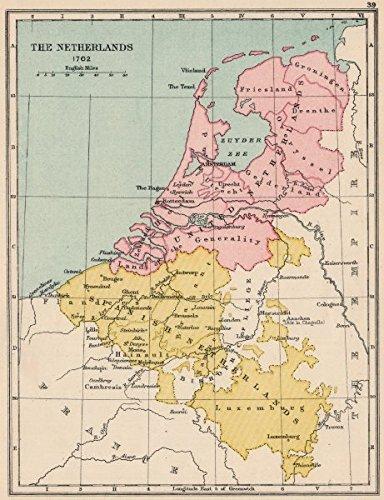 Amazon.com: NETHERLANDS 1702. United Netherlands. Spanish ...
