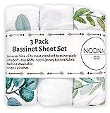 NODNAL CO. Leafy Bassinet Fitted Sheet Set 3 Pack