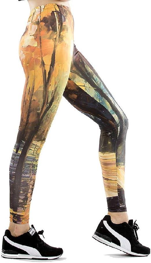 Dscx Leggings Para Mujer Pantalones De Cintura Alta Deportes Yoga Pantalones Para Correr Leggings Tallas Grandes Secado Rapido Marron L Amazon Es Ropa Y Accesorios