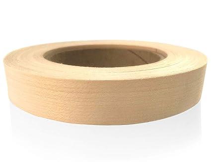 """Skelang 2/"""" X 50/' Roll Birch Wood Veneer Edgebanding Preglued Iron-On with Hot"""