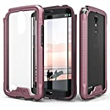 Zizo ION Series compatible with LG Stylo 3 Case Military Grade Drop Tested with Tempered Glass Screen Protector LG Stylo 3 Plus ROSE GOLD CLEAR