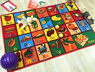 American Sale 8x11 Kids Area Rug ABC Fruits Learning Carpet Paradise (7ft4in.x10ft4in.)