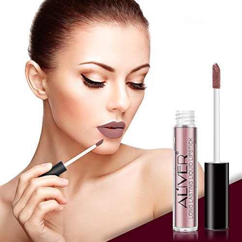 Matte Lipstick, 5 Colors Set Waterproof Long Lasting Liquid Lipstick Pigmented Lip Stains Durable Lip Gloss Set Lip Tints Best Gift Set for Girl Friend