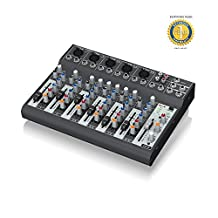 Behringer XENYX 1002B Premium 10-Input 2-Bus Mixer with 1 Year EverythingMusic Extended Warranty Free