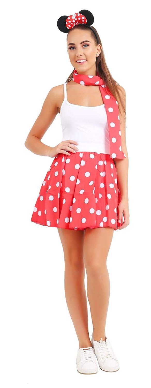 Labreeze Conjunto de Disfraz de Minnie Mouse para Mujer, con ...