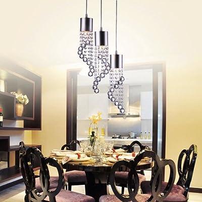 LightInTheBox Modern Dainty 3 Lights Pendant In Wave Shape, Modern Home Ceiling Light Fixture Flush Mount, Pendant Light Chandeliers Lighting, Voltage=110-120V