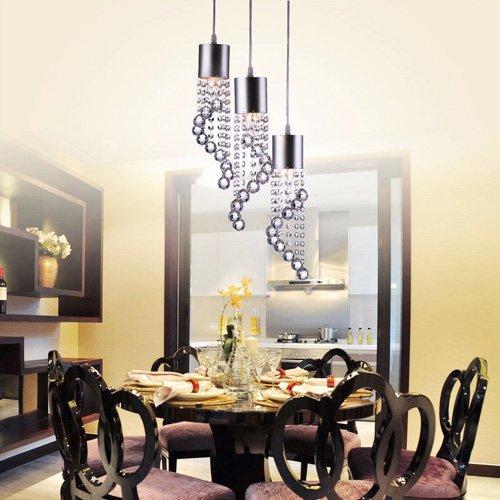 LightInTheBox Modern Dainty 3 Lights Pendant In Wave Shape, Modern Home Ceiling Light Fixture Flush Mount, Pendant Light Chandeliers Lighting, Voltage=110-120V by LightInTheBox