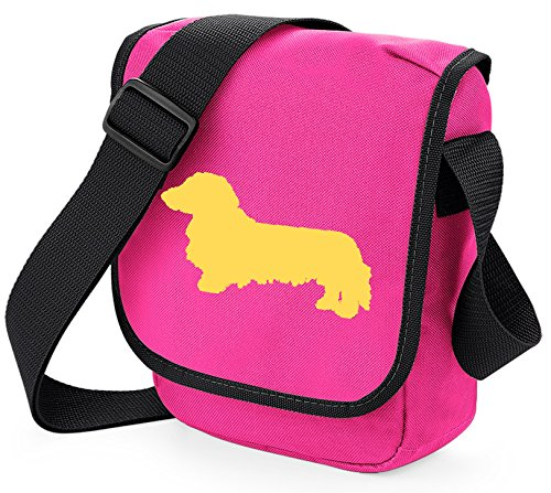 long haired silhouette pink long dachshund colours fawn dachshund