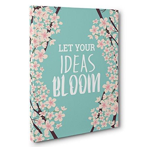 Amazon Com Let Your Ideas Bloom Canvas Wall Art Handmade