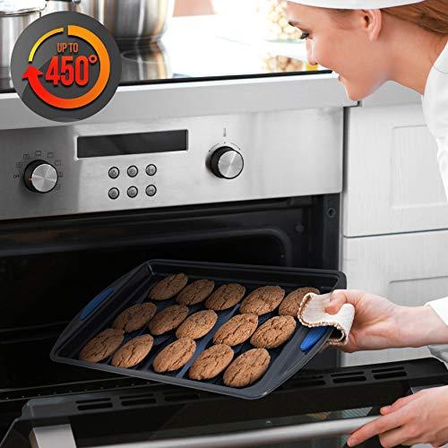 10-Piece Kitchen Oven Baking Pans – Deluxe Carbon Steel Bakeware Set