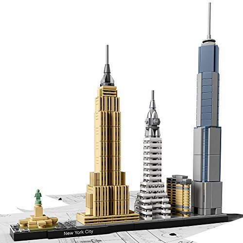 City Gift (LEGO Architecture New York City 21028, Skyline Collection, Building Blocks)