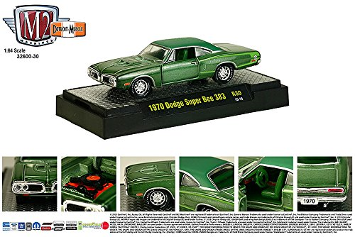 1970 DODGE SUPER BEE 383 * Detroit Muscle Release 30 * M2 Machines 2015 Castline Premium Edition 1:64 Scale Die-Cast Vehicle & Display Case Set ( R30 15-18 )