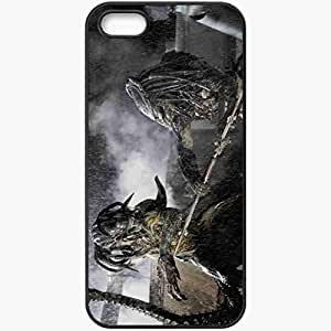 Personalized iPhone 5 5S Cell phone Case/Cover Skin Aliens Vs Predator Black by lolosakes