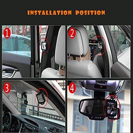 FancyAuto sedile posteriore specchio per auto portatile specchio look-me Sign 270//° specchio convesso regolabile View gamma Safe get-off accessori auto sedile posteriore specchio