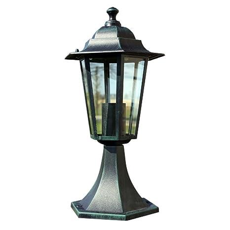 vidaXL Lampe d\'extérieur rétro noire fonte 41 cm: Amazon.fr: Jardin