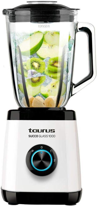 Taurus Succo Glass 1000 Batidora de vaso, W, Blanco