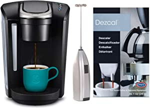 Keurig K-Select Coffee Maker, Single Serve K-Cup Pod Coffee Brewer with Descaling Powder and Milk Frother Bundle (3 Items)