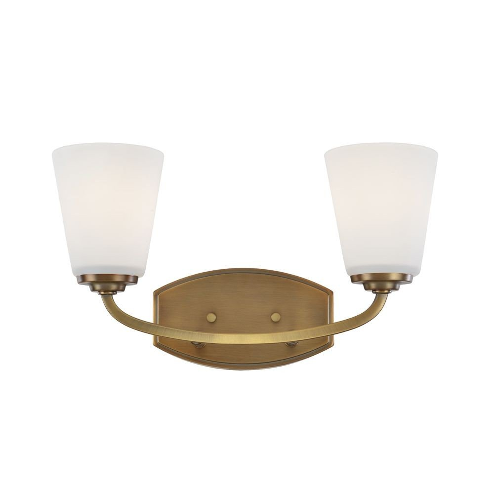 Artcraft Lighting Artcraft AC10462VB Hudson 2-Light Wall Bracket 2, Vintage Brass