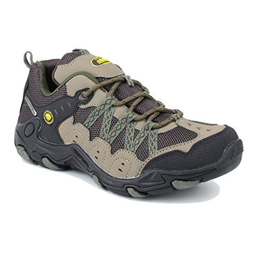 Cotswold Ladies Cooper Waterproof Breathable Walking Shoes Grey Brown