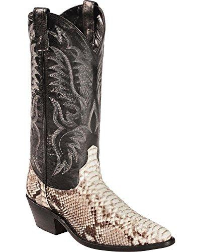 Laredo Men's Key West Python Cowboy Boot Medium Toe Natural 10 D(M) US