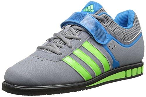 Adidas Prestaties Heren Powerlift.2 Trainer Schoen Grijs / Neon Groen / Zonne-blauw