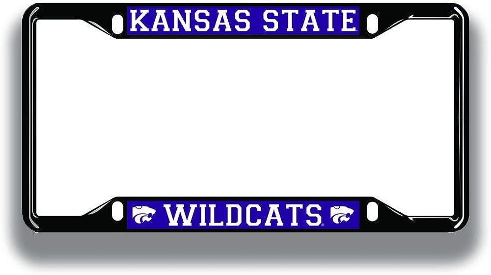 Elite Fan Shop NCAA License Plate Frame Black
